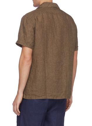 Back View - Click To Enlarge - LARDINI - 'Gian' linen cotton blend Cuban shirt