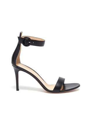 Main View - Click To Enlarge - GIANVITO ROSSI - 'Portofino 85' Ankle Strap Heeled Sandals