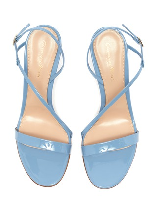 Detail View - Click To Enlarge - GIANVITO ROSSI - 'Manhattan 85' Asymmetric Strap Heeled Sandals