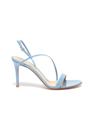 Main View - Click To Enlarge - GIANVITO ROSSI - 'Manhattan 85' Asymmetric Strap Heeled Sandals