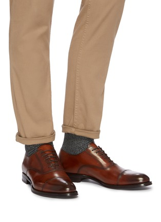Figure View - Click To Enlarge - ANTONIO MAURIZI - Classic Leather Oxford Shoes