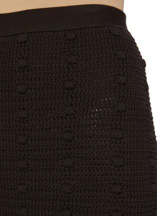 - BOTTEGA VENETA - Pompom Embellished Tassel Fringe Cotton Mesh Mini Skirt