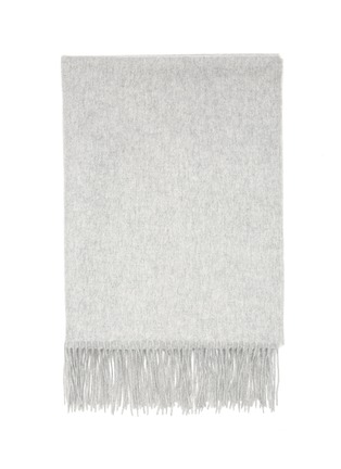 Detail View - Click To Enlarge - JOVENS - Fringed cashmere scarf