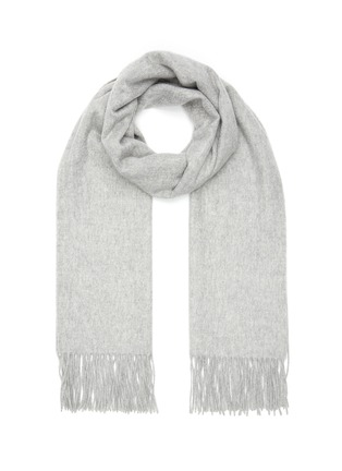 Main View - Click To Enlarge - JOVENS - Fringed cashmere scarf