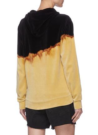 Back View - Click To Enlarge - SAINT LAURENT - Duotonal Cotton Blend Hoodie
