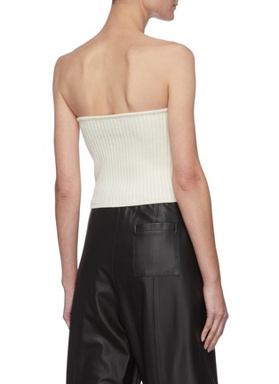 Back View - Click To Enlarge - SAINT LAURENT - Rib Knit Wool Tube Top