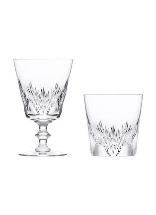Main View - Click To Enlarge - SAINT-LOUIS CRYSTAL - Pas de deux duo glass set – Marie Leszczynska & Louis XV