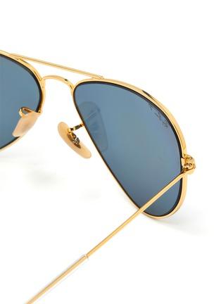 Detail View - Click To Enlarge - RAY-BAN - Double Bridge Metal Frame Junior Aviator Sunglasses