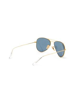 Figure View - Click To Enlarge - RAY-BAN - Double Bridge Metal Frame Junior Aviator Sunglasses