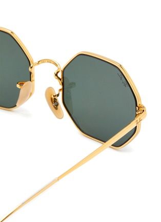 Detail View - Click To Enlarge - RAY-BAN - Clear Temple Tip Octagonal Metal Frame Junior Sunglasses