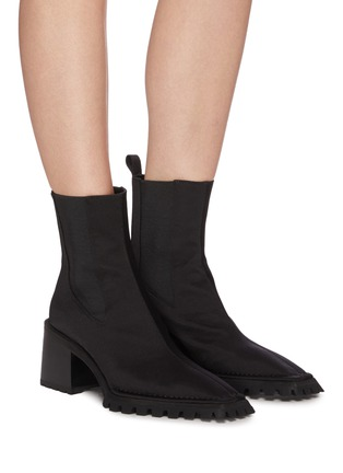 Figure View - Click To Enlarge - ALEXANDERWANG - 'PARKER' Nylon Ankle Boots