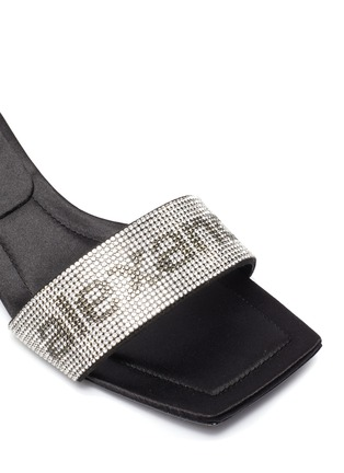 Detail View - Click To Enlarge - ALEXANDERWANG - Jessie' crystal embellished single band sandals