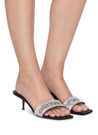 Figure View - Click To Enlarge - ALEXANDERWANG - Jessie' crystal embellished single band sandals
