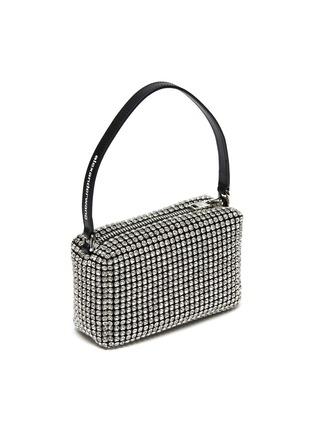 Detail View - Click To Enlarge - ALEXANDERWANG - HEIRESS' Rhinestone Embellished Pouch Logo Top Handle Bag