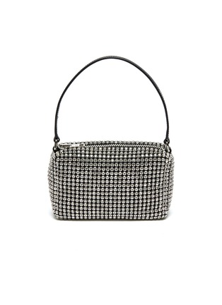 Main View - Click To Enlarge - ALEXANDERWANG - HEIRESS' Rhinestone Embellished Pouch Logo Top Handle Bag