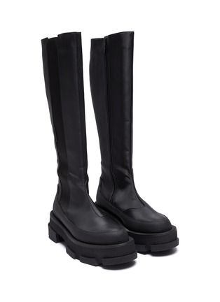 Detail View - Click To Enlarge - BOTH - 'Gao' knee high platform leather boots