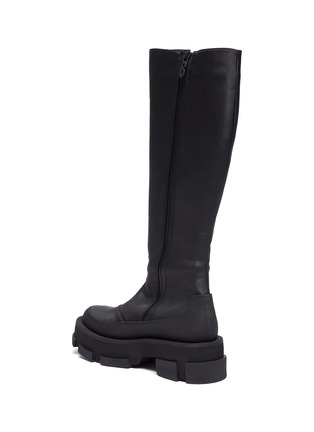 - BOTH - 'Gao' knee high platform leather boots