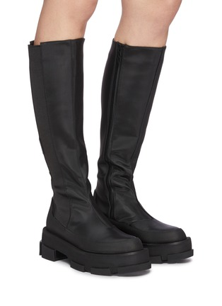 Figure View - Click To Enlarge - BOTH - 'Gao' knee high platform leather boots