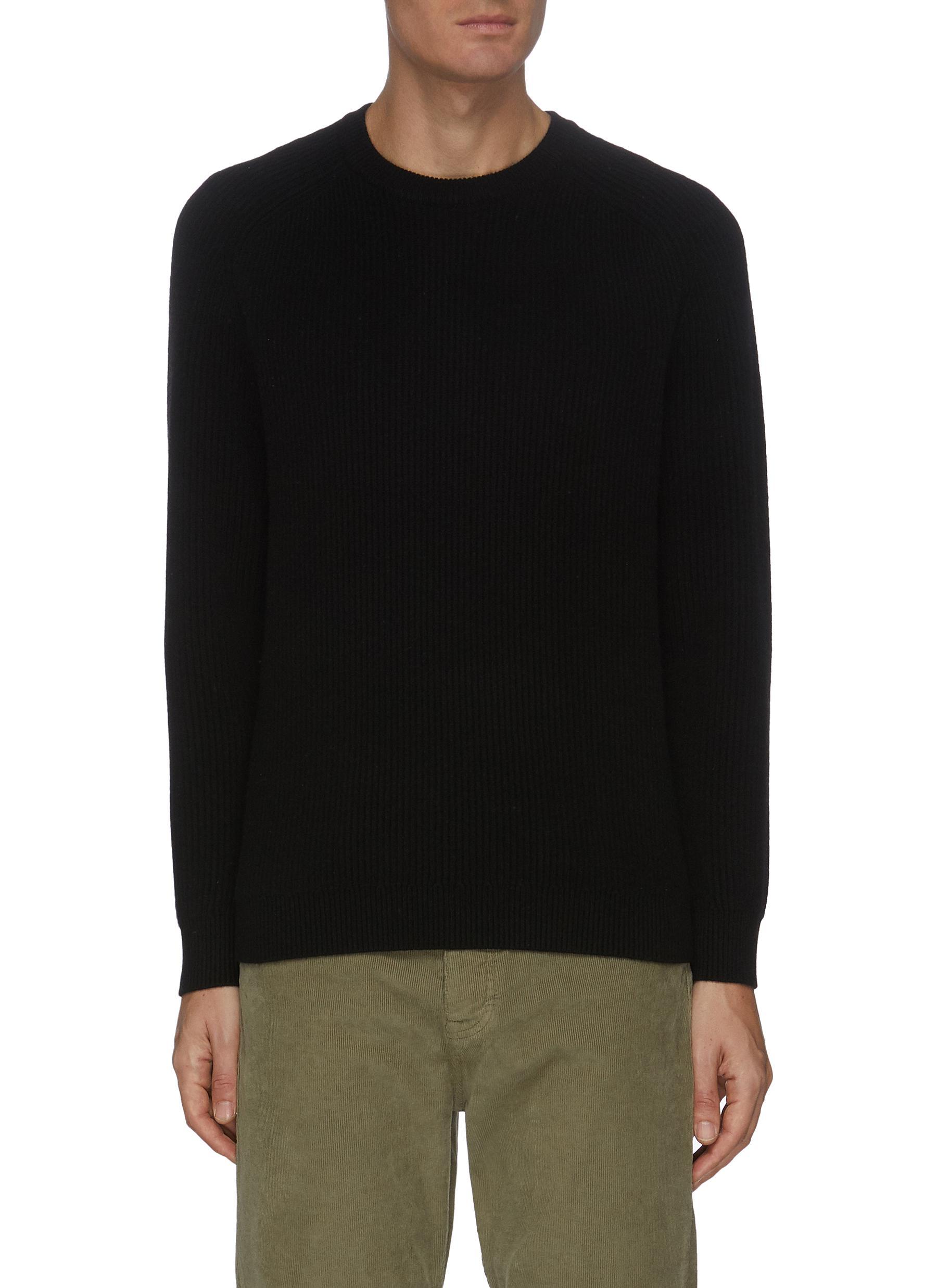 Rib knit cashmere sweater
