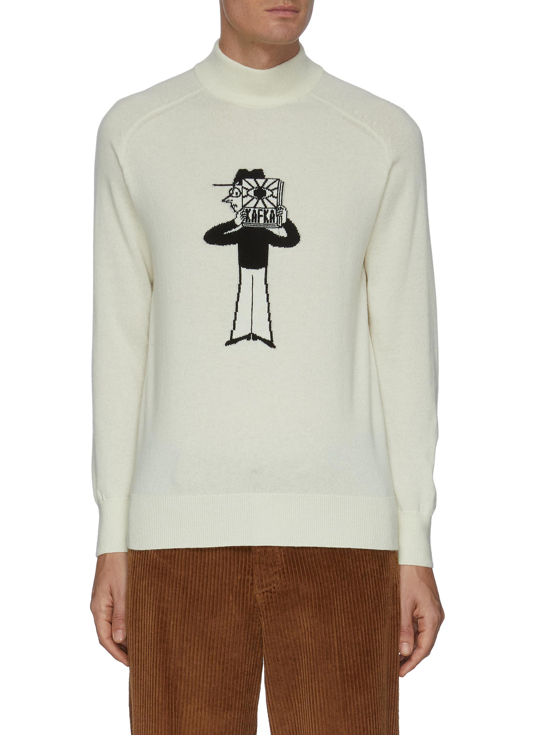 Dreyden Slowboy Writer Intarsia Cashmere Sweater