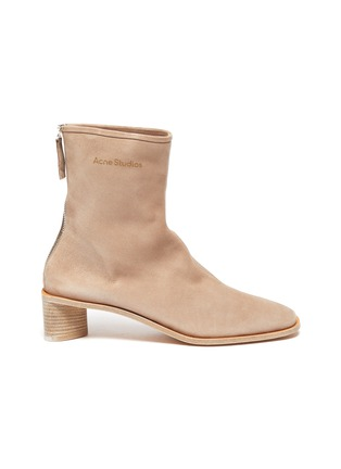 Main View - Click To Enlarge - ACNE STUDIOS - Block Heel Suede Ankle Boots