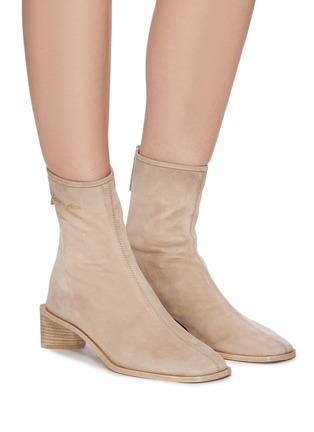 Figure View - Click To Enlarge - ACNE STUDIOS - Block Heel Suede Ankle Boots