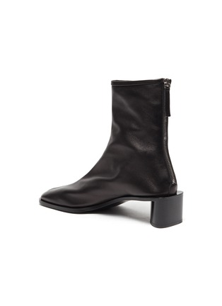 - ACNE STUDIOS - Square Toe Heeled Lambskin Leather Ankle Boots