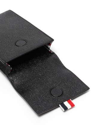 Detail View - Click To Enlarge - THOM BROWNE - Pebble grain leather phone holder