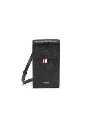 Main View - Click To Enlarge - THOM BROWNE - Pebble grain leather phone holder