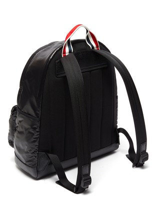 Detail View - Click To Enlarge - THOM BROWNE - Ripstop leather backpack