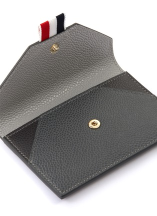Detail View - Click To Enlarge - THOM BROWNE - Tricolour Tab Envelope Leather Cardholder