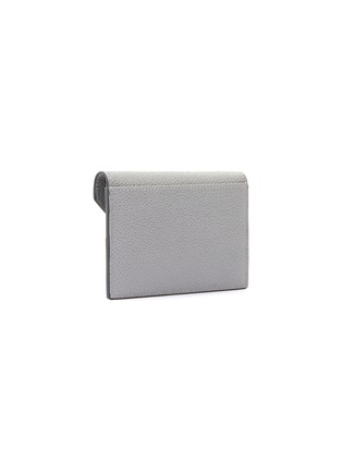 Figure View - Click To Enlarge - THOM BROWNE - Tricolour Tab Envelope Leather Cardholder