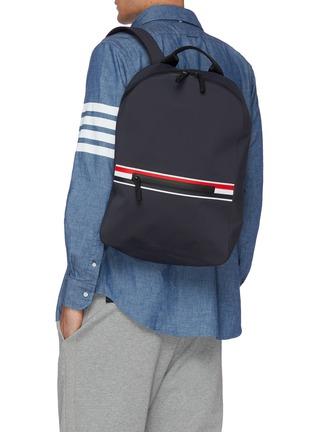 Figure View - Click To Enlarge - THOM BROWNE - Welded waterproof nylon backpack