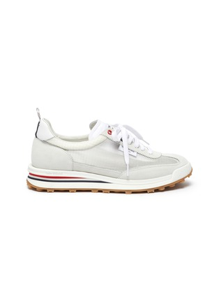 Main View - Click To Enlarge - THOM BROWNE - Pebble grain leather brogue unlined sneakers