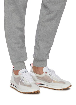 Figure View - Click To Enlarge - THOM BROWNE - Pebble grain leather brogue unlined sneakers