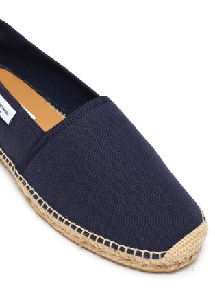 Detail View - Click To Enlarge - THOM BROWNE - Woven sole canvas espadrilles