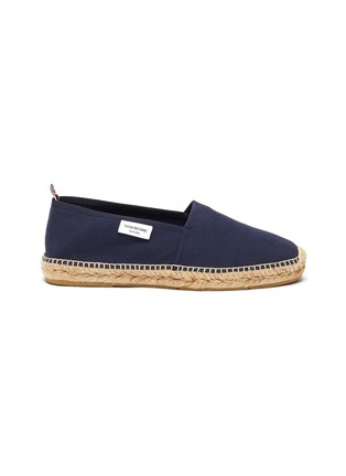 Main View - Click To Enlarge - THOM BROWNE - Woven sole canvas espadrilles