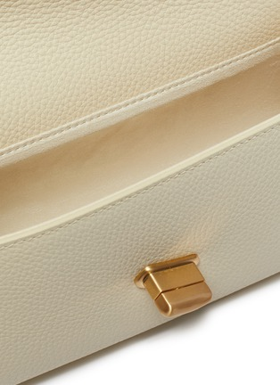 Detail View - Click To Enlarge - CULT GAIA - 'Serena' Wooden Chain Handle Leather Shoulder Bag