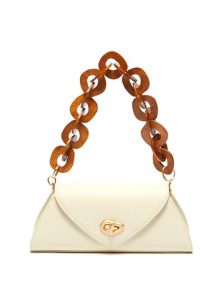 Main View - Click To Enlarge - CULT GAIA - 'Serena' Wooden Chain Handle Leather Shoulder Bag