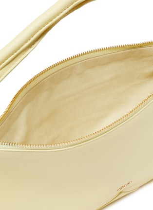 Detail View - Click To Enlarge - CULT GAIA - 'Hera' Logo Plaque Knot Handle Slouchy Leather Bag