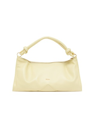 Main View - Click To Enlarge - CULT GAIA - 'Hera' Logo Plaque Knot Handle Slouchy Leather Bag