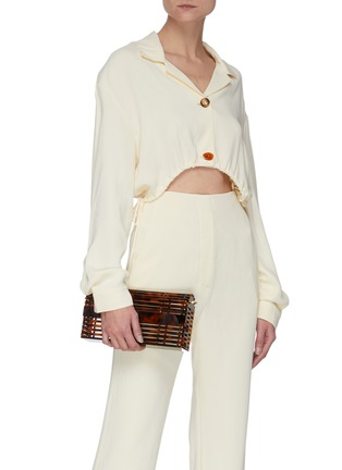 Front View - Click To Enlarge - CULT GAIA - 'Sylva' Chain Handle Acrylic Cage Shoulder Bag