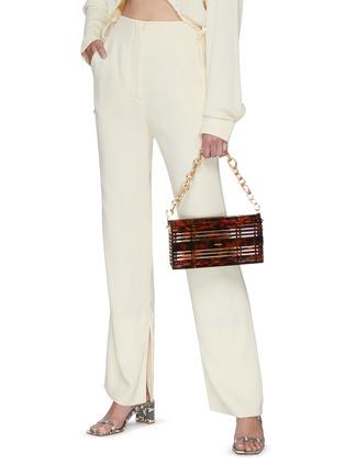 Figure View - Click To Enlarge - CULT GAIA - 'Sylva' Chain Handle Acrylic Cage Shoulder Bag