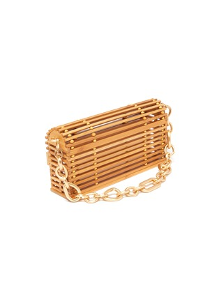 Detail View - Click To Enlarge - CULT GAIA - 'Sylva' Chain Handle Bamboo Cage Shoulder Bag