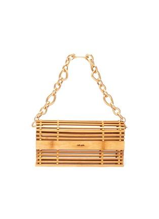 Main View - Click To Enlarge - CULT GAIA - 'Sylva' Chain Handle Bamboo Cage Shoulder Bag