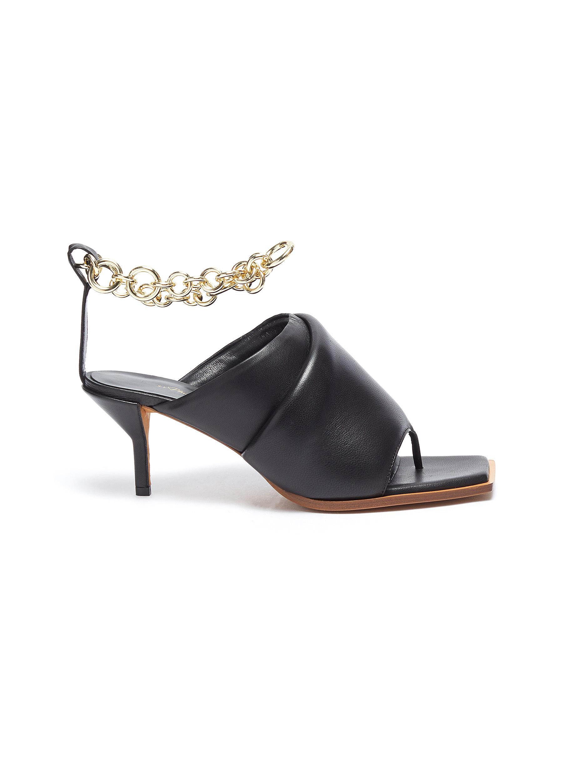 Georgia' Square Toe Chain Ankle Strap Leather Mules - 3.1 PHILLIP LIM - Modalova