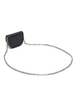 Back View - Click To Enlarge - 3.1 PHILLIP LIM - ALIX' Metal Paperclip Detail Leather Mini Crossbody Bag