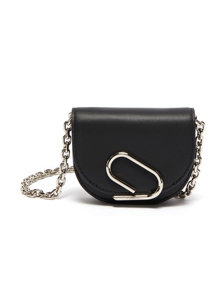 Main View - Click To Enlarge - 3.1 PHILLIP LIM - ALIX' Metal Paperclip Detail Leather Mini Crossbody Bag