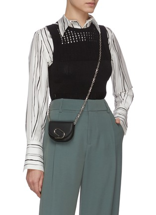 Figure View - Click To Enlarge - 3.1 PHILLIP LIM - ALIX' Metal Paperclip Detail Leather Mini Crossbody Bag