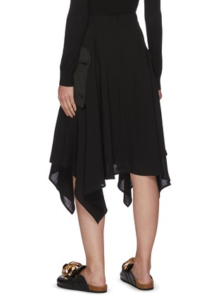 Back View - Click To Enlarge - JW ANDERSON - Asymmetric Drape Hem Midi Cargo Skirt